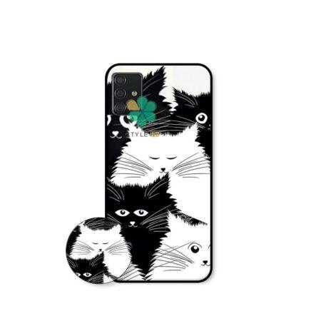 خرید کاور گوشی سامسونگ Samsung Galaxy A51 طرح Smelly Cat
