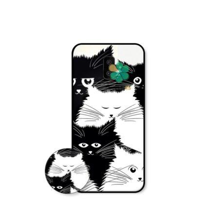 خرید کاور گوشی سامسونگ Galaxy J6 Plus طرح Smelly Cat