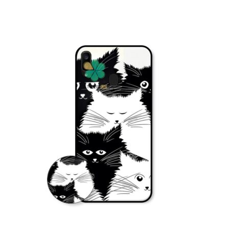 خرید کاور گوشی سامسونگ Samsung Galaxy M10s طرح Smelly Cat
