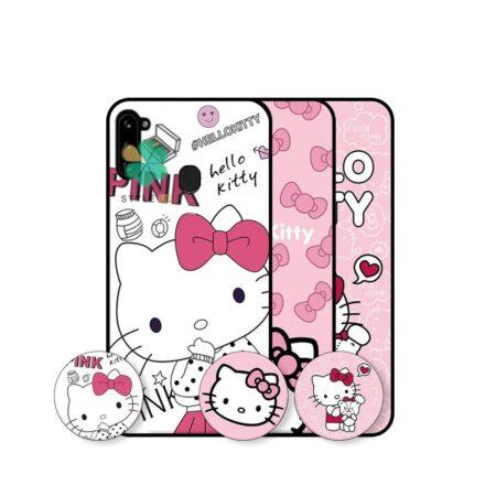 خرید قاب دخترانه گوشی سامسونگ Samsung Galaxy A11 طرح Hello Kitty
