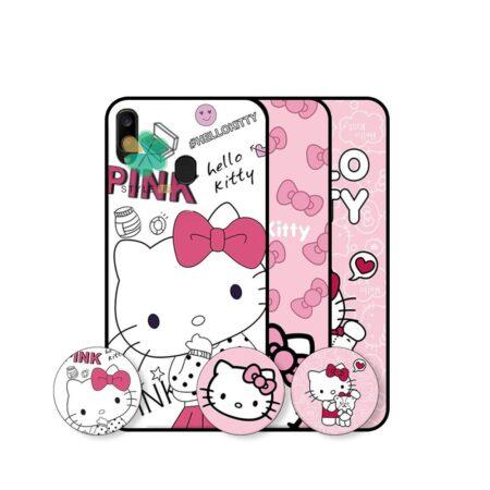 خرید قاب دخترانه گوشی سامسونگ Samsung Galaxy A20 طرح Hello Kitty
