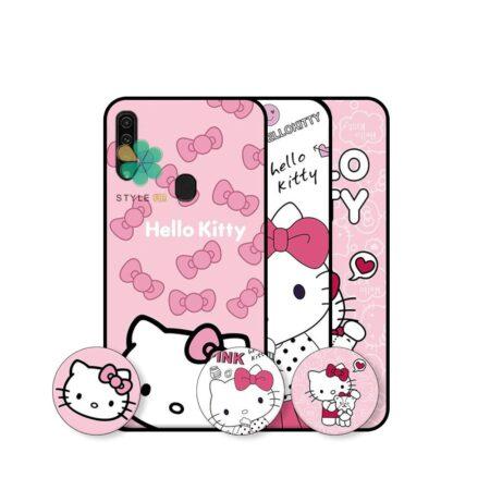 خرید قاب دخترانه گوشی سامسونگ Samsung Galaxy A20s طرح Hello Kitty