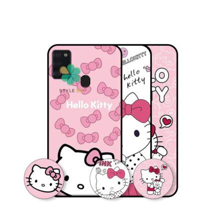 خرید قاب دخترانه گوشی سامسونگ Samsung Galaxy A21s طرح Hello Kitty