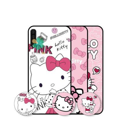 خرید قاب دخترانه گوشی سامسونگ Samsung Galaxy A50 طرح Hello Kitty