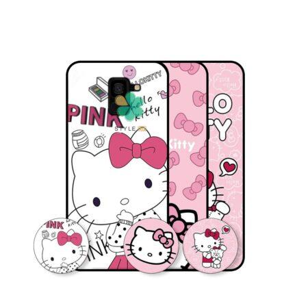 خرید قاب دخترانه گوشی سامسونگ Samsung Galaxy J6 طرح Hello Kitty