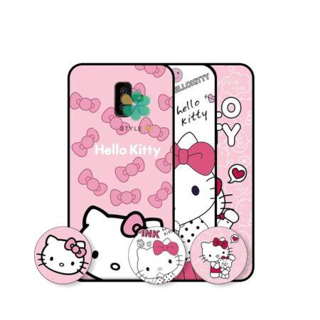 خرید قاب دخترانه گوشی سامسونگ Samsung Galaxy J6 Plus طرح Hello Kitty