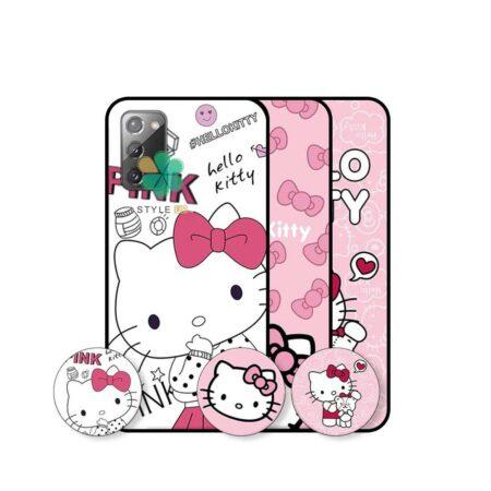 خرید قاب دخترانه گوشی سامسونگ Samsung Galaxy Note 20 طرح Hello Kitty