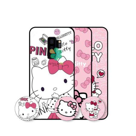 خرید قاب دخترانه گوشی سامسونگ Galaxy S9 Plus طرح Hello Kitty