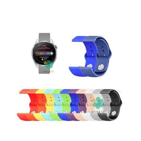 قیمت بند سیلیکونی ساعت هواوی واچ Huawei Watch 3 Pro مدل دکمه ای