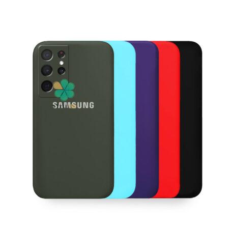خرید قاب گوشی سامسونگ Galaxy S21 Ultra مدل سیلیکونی محافظ لنز دار