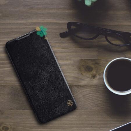 عکس کیف چرمی نیلکین گوشی وان پلاس OnePlus Nord N10 5G مدل Qin
