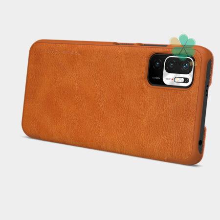 خرید کیف چرمی نیلکین گوشی شیائومی Redmi Note 10 5G مدل Qin