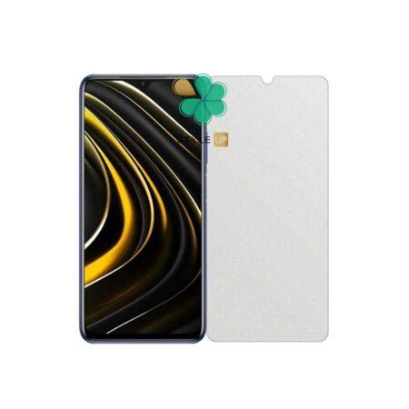 خرید گلس بدون حاشیه سرامیکی گوشی شیائومی Xiaomi Poco M3 مدل مات