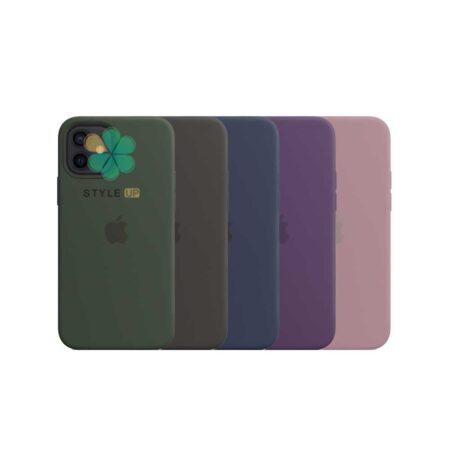 خرید کاور سیلیکونی اورجینال گوشی ایفون Apple iPhone 12 با قابلیت مگ سیف