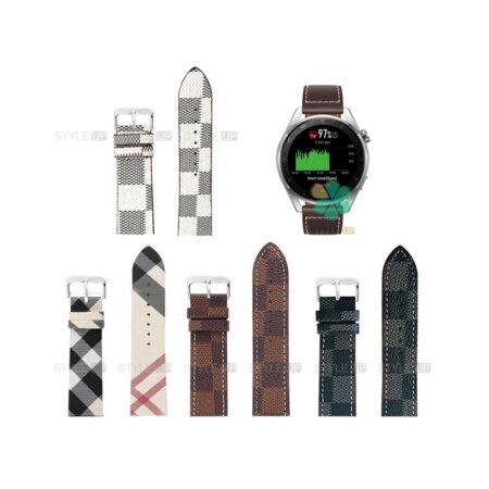 خرید بند ساعت هواوی واچ Huawei Watch 3 Pro طرح لویی ویتون