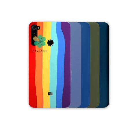 خرید کاور سیلیکونی گوشی شیائومی Redmi Note 8 2021 مدل رنگین کمان