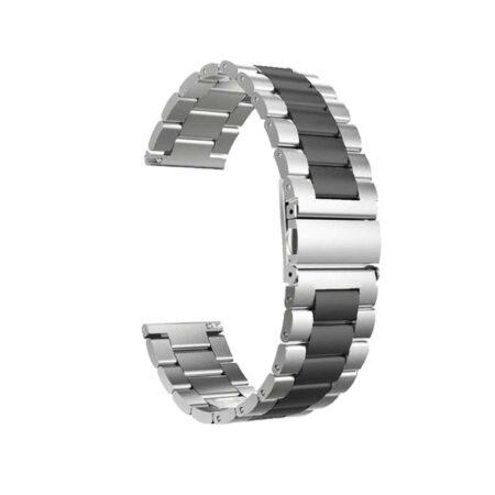 عکس بند ساعت ریلمی واچ Realme Watch مدل استیل دو رنگ