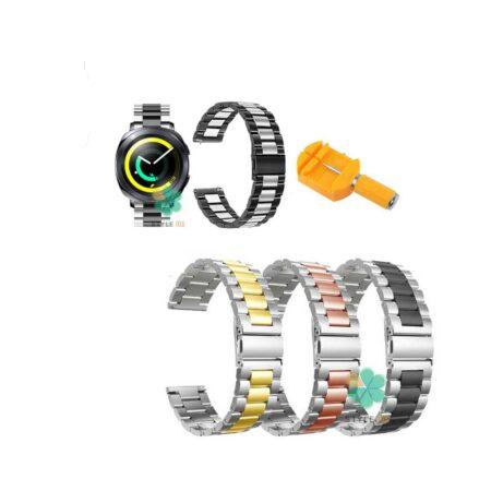 خرید بند ساعت سامسونگ Samsung Gear Sport مدل استیل دو رنگ