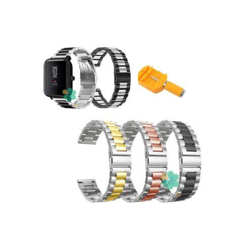 خرید بند ساعت شیائومی Xiaomi Amazfit Bip مدل استیل دو رنگ