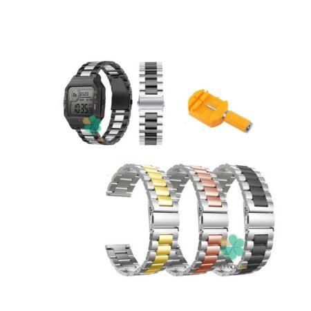 خرید بند ساعت شیائومی Xiaomi Amazfit Neo مدل استیل دو رنگ