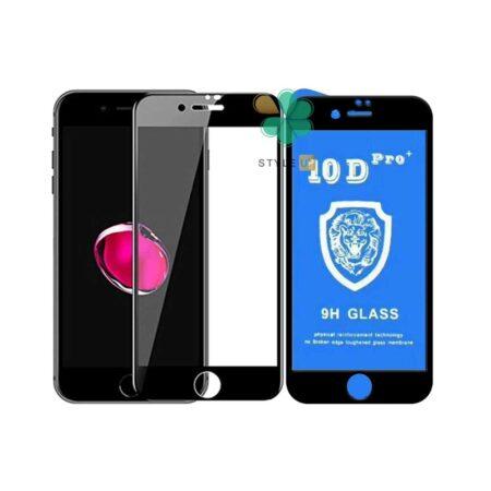 قیمت گلس تمام صفحه گوشی ایفون iPhone 7 Plus / 8 Plus مدل 10D Pro