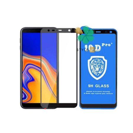 خرید گلس تمام صفحه گوشی سامسونگ Galaxy J6 Plus مدل 10D Pro