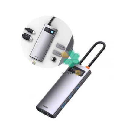 خرید هاب 6 پورت تایپ سی بیسوس مدل Baseus Metal Gleam CAHUB-CW0G