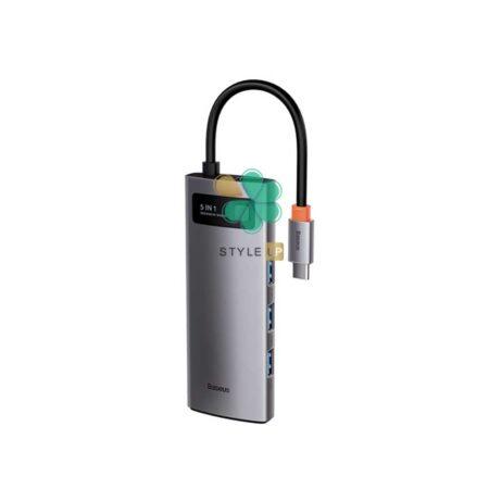 خرید هاب 5 پورت تایپ سی بیسوس مدل Baseus Metal Gleam CAHUB-CX0G