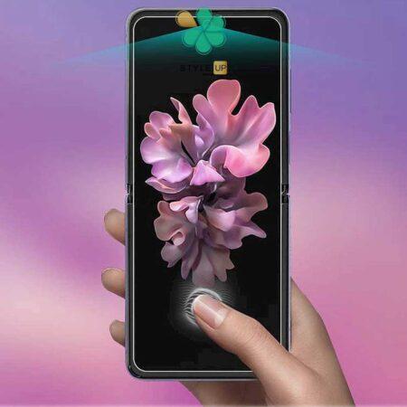 عکس محافظ صفحه Hydrogel گوشی سامسونگ Samsung Galaxy Z Flip برند Buff