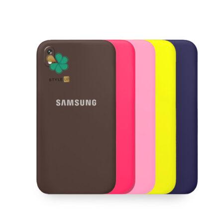 خرید قاب گوشی سامسونگ Galaxy A01 Core مدل سیلیکونی محافظ لنز دار