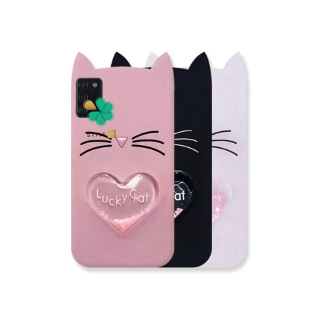 خرید کاور آکواریومی گوشی سامسونگ Galaxy A02s طرح Lucky Cat