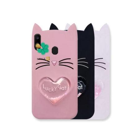 خرید کاور آکواریومی گوشی سامسونگ Galaxy A20 طرح Lucky Cat