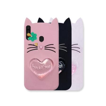 خرید کاور آکواریومی گوشی سامسونگ Galaxy A20s طرح Lucky Cat