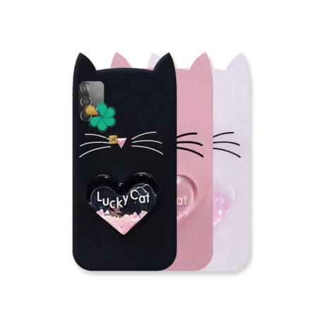 خرید کاور آکواریومی گوشی سامسونگ Galaxy A72 طرح Lucky Cat