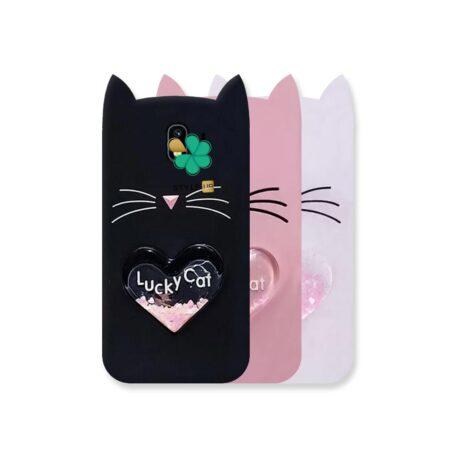 خرید کاور آکواریومی گوشی سامسونگ Galaxy J4 طرح Lucky Cat