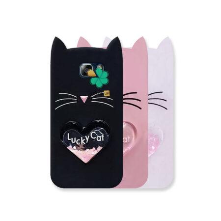 خرید کاور آکواریومی گوشی سامسونگ Galaxy Note 5 طرح Lucky Cat