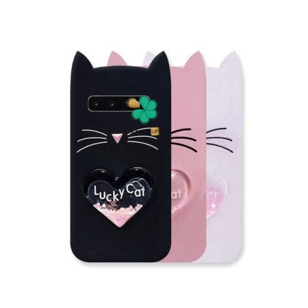 خرید کاور آکواریومی گوشی سامسونگ Galaxy S10 طرح Lucky Cat