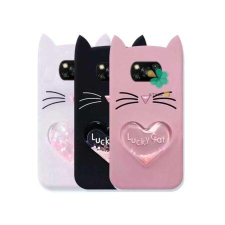 قیمت کاور آکواریومی گوشی شیائومی Xiaomi Poco X3 طرح Lucky Cat