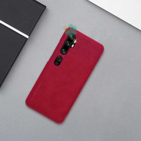 عکس کیف چرمی نیلکین گوشی شیائومی Xiaomi Mi CC9 Pro مدل Qin