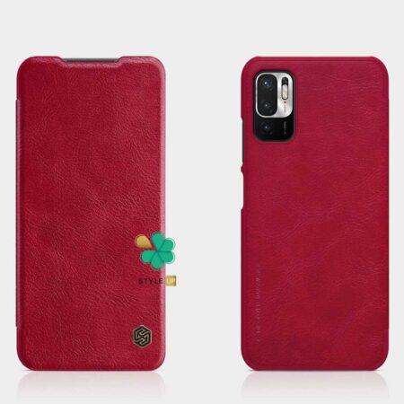 خرید کیف چرمی نیلکین گوشی شیائومی Xiaomi Redmi Note 10T 5G مدل Qin