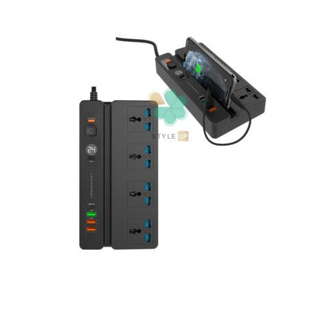 خرید چند راهی هوشمند برق پاورولوجی مدل Powerology Multi-Port Socket 3M