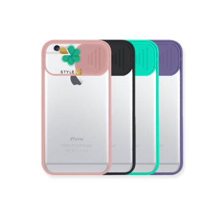 خرید قاب پشت طلق گوشی اپل iPhone 6 / 6s مدل محافظ لنزدار کشویی