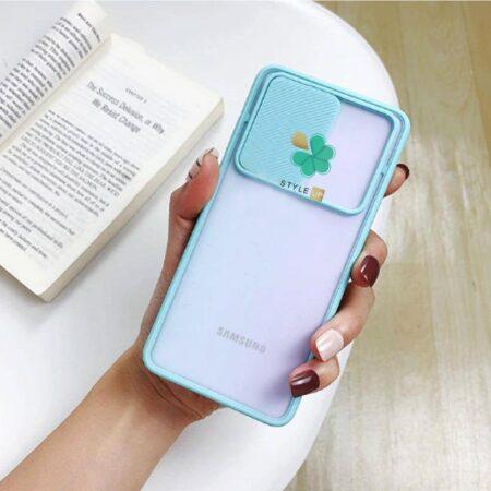 عکس قاب گوشی سامسونگ Galaxy A22 5G مدل پشت مات کم شیلد رنگی