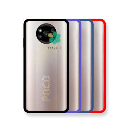 خرید قاب پشت شفاف گوشی شیائومی Xiaomi Poco X3 مدل دور سیلیکونی