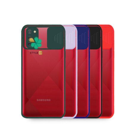 خرید قاب گوشی سامسونگ Samsung A02s مدل پشت شفاف محافظ لنزدار کشویی