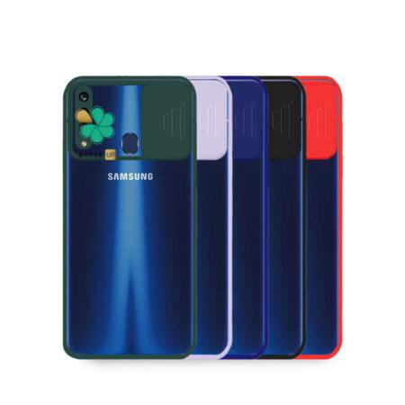 خرید قاب گوشی سامسونگ Samsung A20s مدل پشت شفاف محافظ لنزدار کشویی