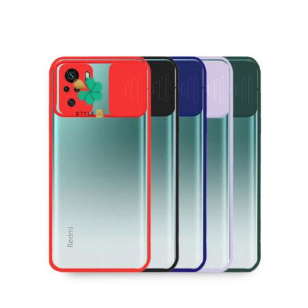 خرید قاب گوشی شیائومی Redmi Note 10 مدل پشت شفاف محافظ لنزدار کشویی