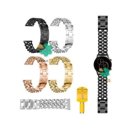 قیمت بند ساعت هوشمند شیائومی Haylou RS3 LS04 مدل استیل زنجیری