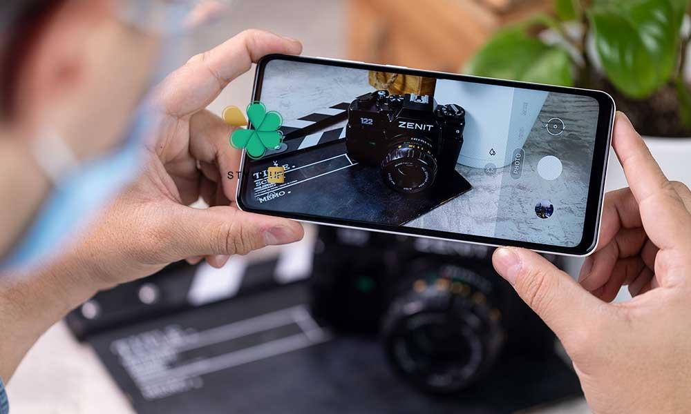 عکس پک دوتایی محافظ لنز نانو سرامیک گوشی سامسونگ Samsung A82 / Quantum 2
