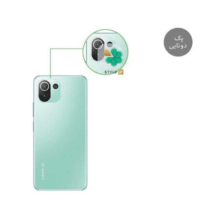 خرید پک دوتایی محافظ لنز نانو سرامیک گوشی شیائومی Xiaomi Mi 11 Pro